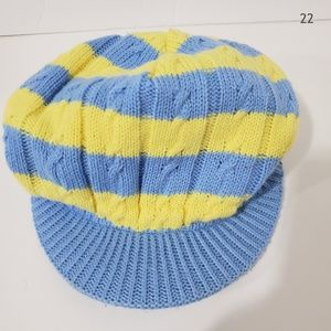 North Face Blue & Yellow Visor Knit Child's Hat